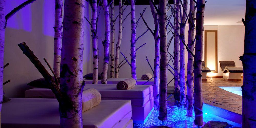 Une des zones de repos dans le spa de trois étages de la Cheneaudière. Crédit photo : Jérôme Mondière.