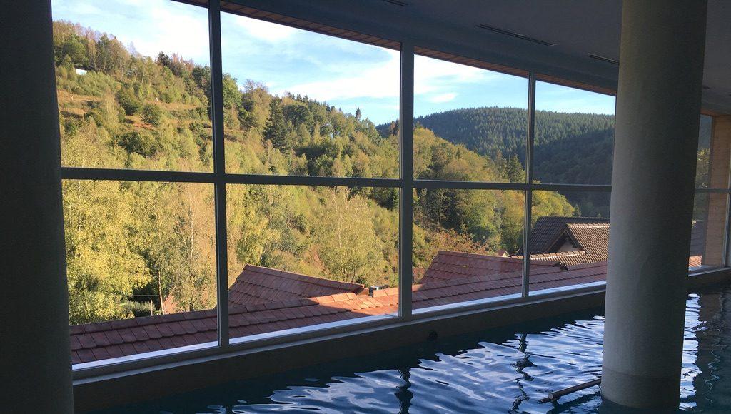 voyage Alsace tasty life magazine lifestyle gourmand la cheneaudiere vue de la piscine
