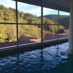 La vue de la piscine intérieure de la Cheneaudière. Notez que des bulles diverses s'activent à volonté dans ce bassin. Crédit photo : Tasty Life Magazine.